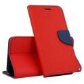 Etui portfel Fancy  SAMSUNG A6 czerwień - granat