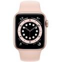 Smartwatch Apple Watch Series 6 GPS + Cellular 44mm Aluminium złoty z różowym paskiem Sport