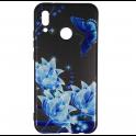 Etui Slim Art HUAWEI P20 LITE niebieski kwiat i motyl