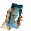 Etui 3D Lustro Mirror Obudowa Diamond Stone SAMSUNG GALAXY S10e turkusowe