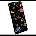 Etui Slim case Art HUAWEI P SMART 2019 różowe planety