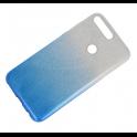 Etui Glitter HUAWEI Y7 2018 srebrno-niebieskie