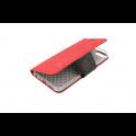 Etui portfel Fancy LG K8 2018 czerwono-czarne shine