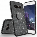 Etui Diamond Ring Glitter Brokat SAMSUNG GALAXY S9 czarne
