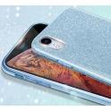 Etui Brokat Glitter SAMSUNG GALAXY S9 niebieskie