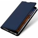 Etui IPHONE 11 PRO z klapką Dux Ducis skórzane Skin leather granatowe