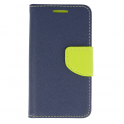 Etui portfel z klapką Fancy SAMSUNG GALAXY NOTE 10 granatowo-limonkowe
