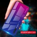 Etui Szklane Glass case Gradient SAMSUNG GALAXY A80 niebiesko-różowe