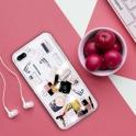 Etui SAMSUNG GALAXY A50 Liquid Make Up Brokat różowe