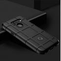 Wytrzymałe pancerne etui, pokrowiec Rugged Square  LG Q60 czarne