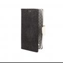 Etui portfel fancy HUAWEI P20 czarno-biały shine