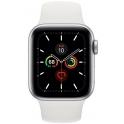Smartwatch Apple Watch Series 5 GPS 44mm Aluminium srebrne z białym paskiem Sport