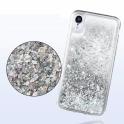 Etui plecki brokatowe Liquid IPHONE 11 srebrne