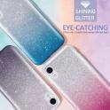 Etui Brokat Glitter SAMSUNG GALAXY A70 srebrno-niebieskie