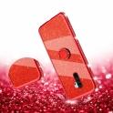 Etui Diamond Ring Brokat XIAOMI REDMI NOTE 8 PRO czerwone