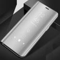 Etui Clear View Cover SAMSUNG J6+ J6 Plus srebrne