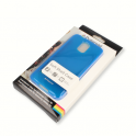 Etui Polaroid soft slim iPhone 4 niebieskie