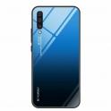 Etui Szklane Glass case Gradient IPHONE X XS czarno-niebieskie