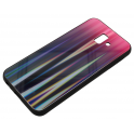 Etui Glass Case Rainbow SAMSUNG GALAXY J6+ Plus 2018 różowo-czarne