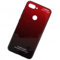 Etui Glass Gradient XIAOMI MI 8 LITE czerwone