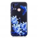 nemo Etui Slim Art HUAWEI P20 LITE niebieski kwiat
