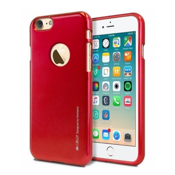 c78adb988a92 Mercury I-Jelly iPhone 7 Plus czerwony wycięcie red hole mat   Etui ...