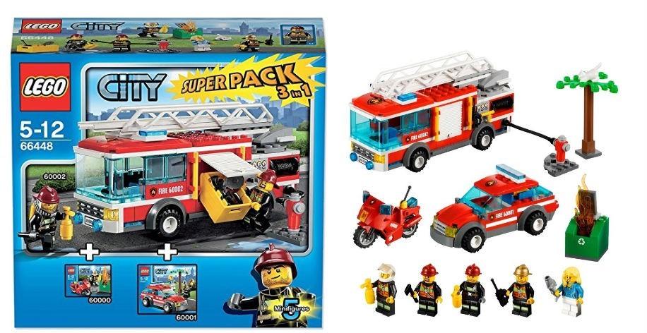 Klocki Lego City 66448 Straż Pożarna Super Pack 3 In 1 60000 60001