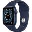 Smartwatch Apple Watch Series 6 GPS 40mm Aluminium niebieski z granatowym paskiem Sport