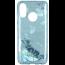 Etui Brokat Glitter SAMSUNG GALAXY S10 niebieski kwiat